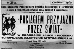 1962 plakat VI Pociąg