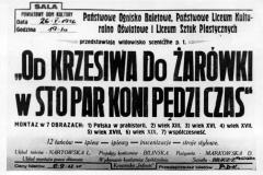 1956 26 V Od krzesiwa plakat